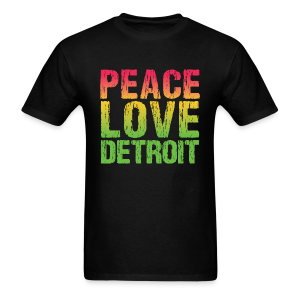 PEACE LOVE DETROIT - Men's T-Shirt