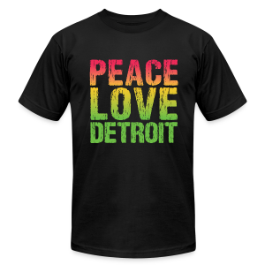 PEACE LOVE DETROIT - Men's T-Shirt by American Apparel