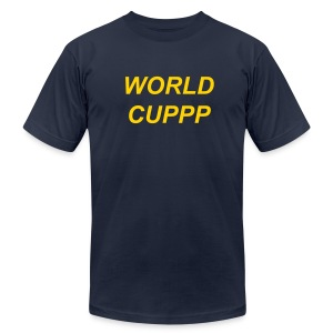 WORLD CUPPP YELLOW/NAVY - Men's T-Shirt by American Apparel