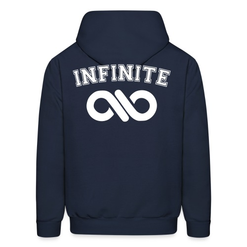 Infinite Varsity-Double sided w/ Sleeve Design - Men's Hoodie
