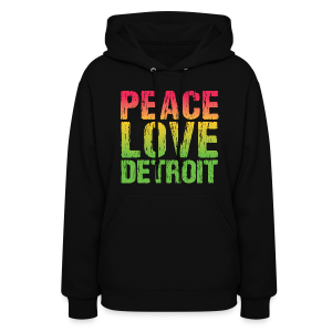 PEACE LOVE DETROIT - Women's Hoodie