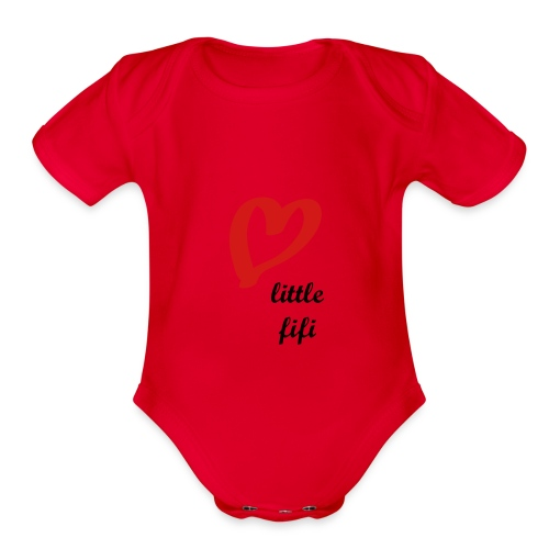 PINK CUTE FIFI Baby Short Sleeve One Piece - Organic Short Sleeve Baby Bodysuit