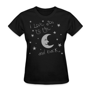 Moon and Back Silver Glitz - Women's T-Shirt