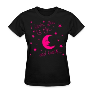 Moon and Back Neon Pink - Women's T-Shirt