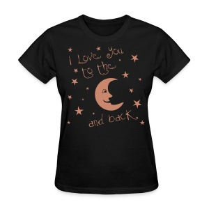 Moon and Back Pink Glitz - Women's T-Shirt