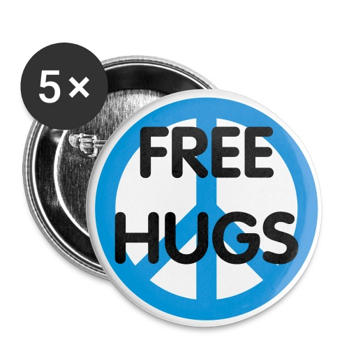 Free Hugs Peace Buttons - Buttons small 1'' (5-pack)