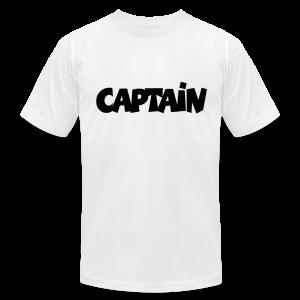Captain T-Shirt (White) Men - Men's Fine Jersey T-Shirt