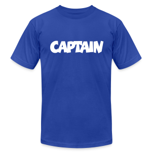 Captain T-Shirt (Blue) Men - Men's Fine Jersey T-Shirt