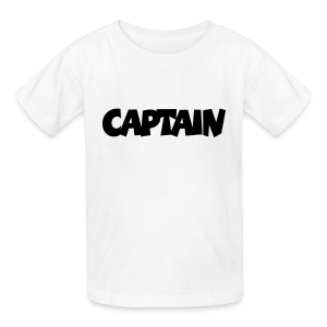 Captain T-Shirt (White) Kids - Kids' T-Shirt