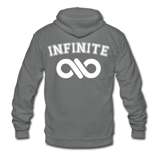 Infinite Varsity-Double sided  - Unisex Fleece Zip Hoodie by American Apparel