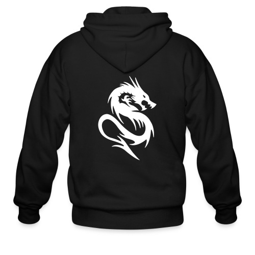 Soulless Knights text w/ Logo on Back - Men's Zip Hoodie