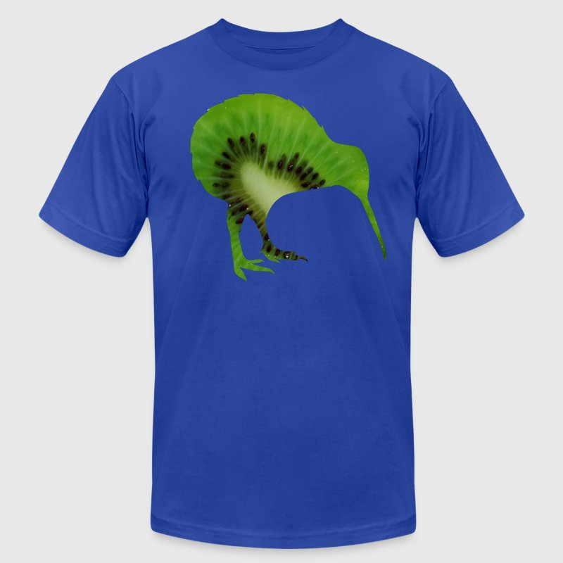 Fruits kiwi bird ostrich Schnepf T-Shirts - Men's T-Shirt by American Apparel