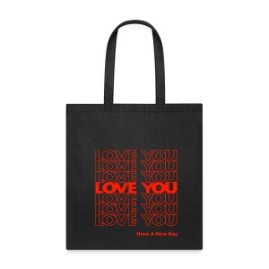THANK YOU LOVE (PLASTIC BAG) by Tai's Tees - Tote Bag