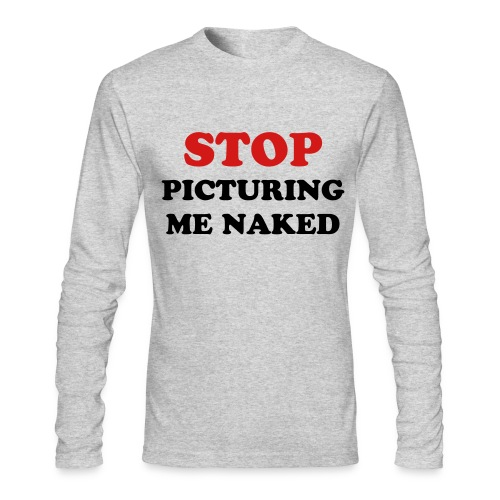 naked - Men's Long Sleeve T-Shirt by Next Level