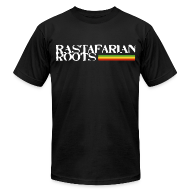 T-Shirts ~ Men's T-Shirt by American Apparel ~ Rastafarian Roots Logo Full