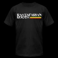 T-Shirts ~ Men's T-Shirt by American Apparel ~ Rastafarian Roots Logo Full