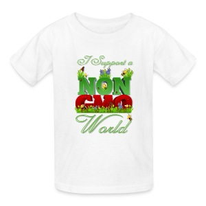 I Support a NON GMO World - Kids' T-Shirt