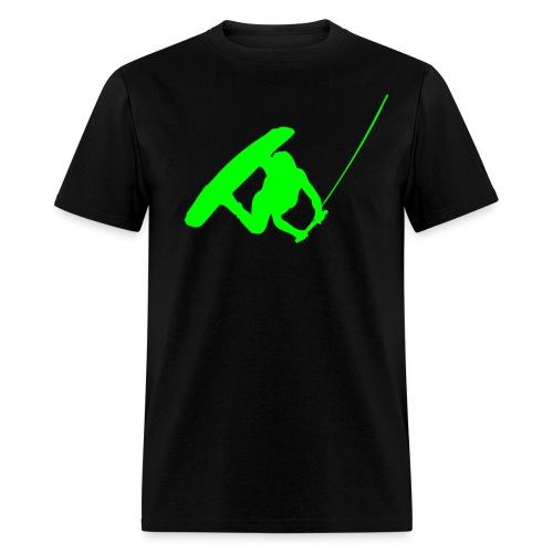 Wakeboarder Neon Green - Men's T-Shirt