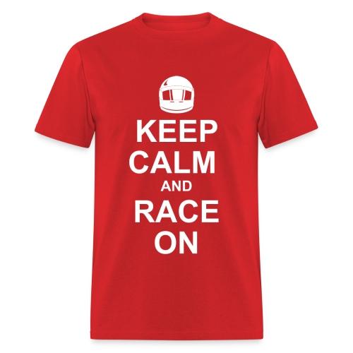 Keep calm race on t-shirt - Men's T-Shirt