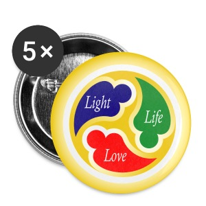 Three-in-One Heart - Large Buttons