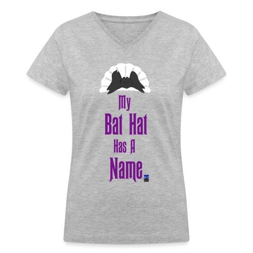 Bat Hat Shirt - Women's V-Neck T-Shirt