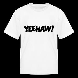 Yeehaw T-Shirt (White) Kids - Kids' T-Shirt