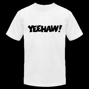 Yeehaw T-Shirt (White) Men - Men's Fine Jersey T-Shirt