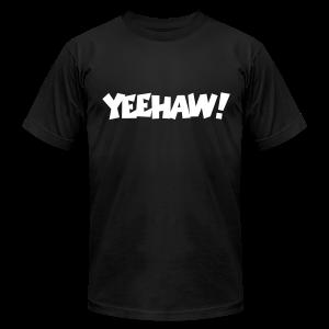 Yeehaw T-Shirt (Black) Men - Men's Fine Jersey T-Shirt