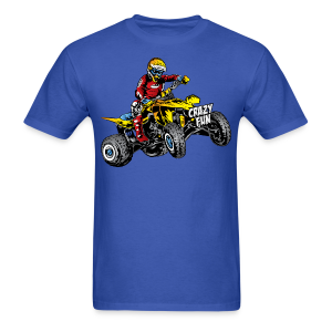 Crazy Fun ATV Quad Rider - Men's T-Shirt
