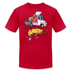 Men's Fine Jersey T-Shirt - webcomic,loadingartist,loading,gregor,food,czaykowski,comic,chain,artist