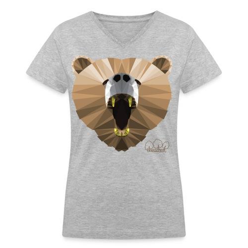 Hungry Bear Women's V-Neck T-Shirt - Women's V-Neck T-Shirt