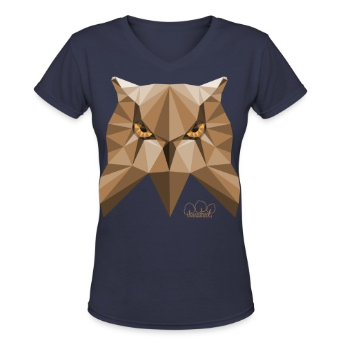 Wise Owl Women's V-Neck T-Shirt - Women's V-Neck T-Shirt
