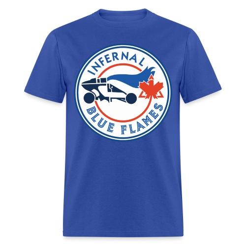 Blue Flame - Men's Blue T - Men's T-Shirt