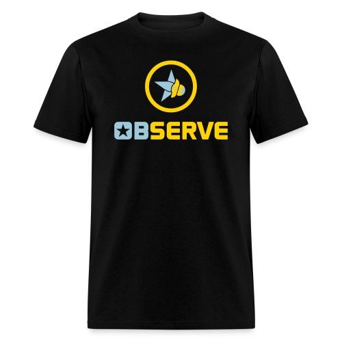 Observe - Men's Black T - Men's T-Shirt