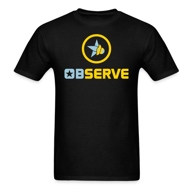 Observe - Men's Black T - Men's T-Shirt