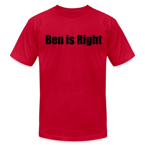 Ben is Right Shirt - Double Sided - Men's Fine Jersey T-Shirt