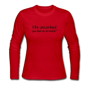 Life Uncorked Womens Long Sleeve Jersey T Shirt - Women's Long Sleeve Jersey T-Shirt