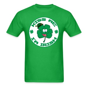 Kiss Me I'm Irish Men's Standard Weight T-Shirt - Men's T-Shirt