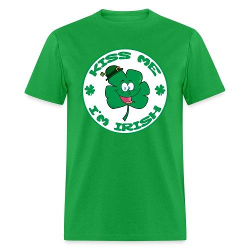 Kiss Me I'm Irish Men's Standard Weight T-Shirt - Men's T-Shirt