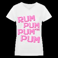 T-Shirts ~ Women's V-Neck T-Shirt ~ [fx] Rum Pum