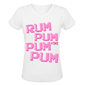 [fx] Rum Pum - Women's V-Neck T-Shirt