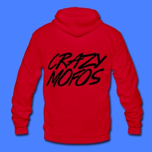 Crazy Mofos Zip Hoodies & Jackets - Unisex Fleece Zip Hoodie by American Apparel