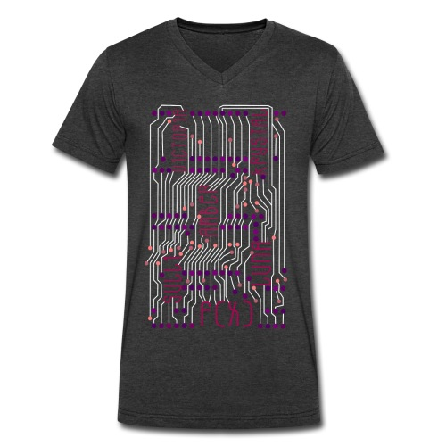 F(X) Circuit Board  - Men's V-Neck T-Shirt by Canvas