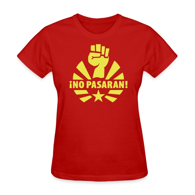 No Pasaran Fist Women's T-Shirt