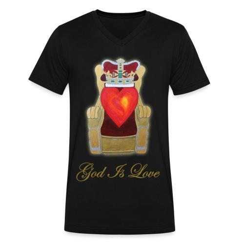 God Is Love -- Black -- V-Neck  - Men's V-Neck T-Shirt by Canvas