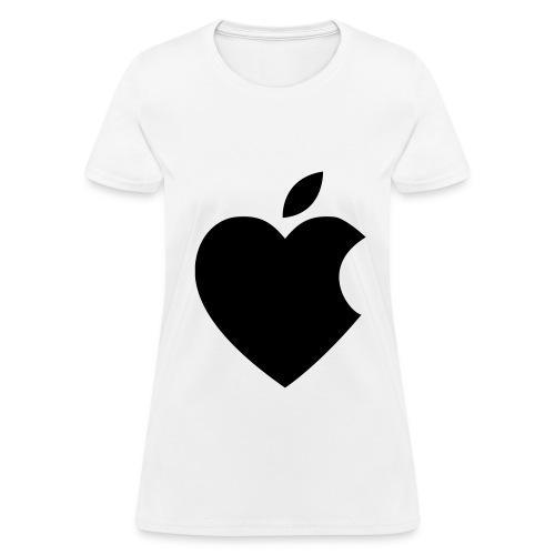 Womes's Apple Heart T-Shirt - Women's T-Shirt