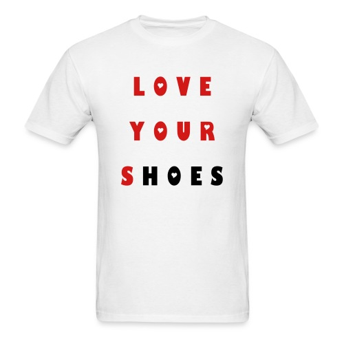 """3 """"FIRE RED""""  Love your Shoes - Men's T-Shirt"""