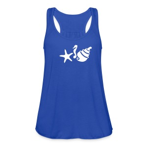 Shell Starfish Summer Women's Flowy Tank Top By Bella - Women's Flowy Tank Top by Bella