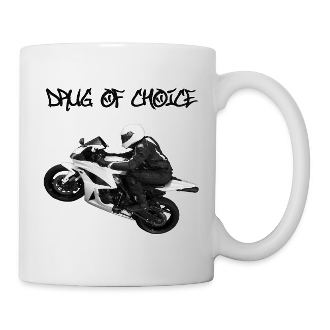 CycleCruza's Graffiti Sport Bike Drug Of Choice Mug