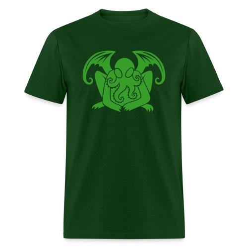 Cthulhu on Green Mens - Men's T-Shirt